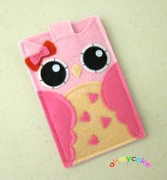 iPhone Case Cell Phone Case iPhone 4 Case iPod Case by ohmycake. This is adorable, I think I might order it in purple!