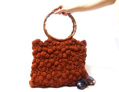 Free Shipping Crochet handmade bag Brown bag Brown by aynikki, $85.00