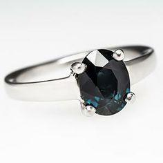 Blue-green sapphire, so pretty and so simple