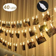 40 LED Photo Clip Lights, Adecorty Photo Clips String Lights USB Powered Fairy Lights with Clips Remote & Timer, Hanging Lights for Christmas Cards Pictures Holder, Teen Girl Gifts for Bedroom Decor Battery Powered String Lights, Indoor String Lights, Christmas String Lights, Hanging Lights, Fairy Lights, Window Hanging, Wall Lights, Christmas Gifts For Teen Girls, Teen Girl Gifts
