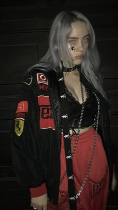 Kids and parenting billie eilish clothes billie eilish, red aesthetic, gr. Outfits Casual, Purple Outfits, Style Outfits, Billie Eilish, Black And White Outfit, Beautiful People, Most Beautiful, Beautiful Pictures, Mode Poster