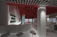 Kitchen bar restaurant plan and design Restaurant Plan, Interior Design And Construction, Cyprus, Blinds, Curtains, Bar, How To Plan, Kitchen, Home Decor