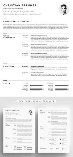 35 Best Minimal CV Resume Templates Minimalist Template Free Download Word Indesign
