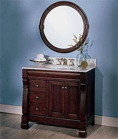 "Fairmont Victoria 30"" vanity 30 Vanity, Remodel, Kitchen And Bath, Bath, Bathroom Mirror, Bathroom Vanity, Round Mirror Bathroom, Bathroom, Bathrooms Remodel"