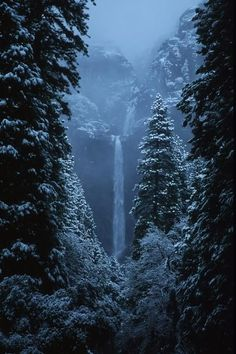 Yosemite Falls In January; photo by Stan and Anne Foster