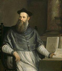 Daniele Barbaro  Artist: Paolo VeroneseStart Date: 1561Completion Date:1567Style: Mannerism (Late Renaissance)Genre: portraitTechnique: oilMaterial: canvasDimensions: 105.5 x 121 cm