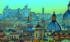 Tra i luoghi panoramici più belli di Roma i il Colle del Gianicolo dalla cui Passeggiata è possibile ammirare la strepitosa bellezza