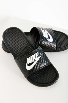 Nike Benassi JDI Slide Sandal -  I wear James' all the time even though it is too big for me. SO comfortable