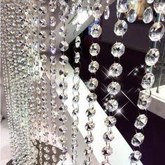 Crystal Bead Strand Crystal Garland, Crystal Ball, Clear Crystal, Quartz Crystal, Hanging Beads, Acrylic Beads, Healing Stones, Handmade Crafts, Wedding Decorations