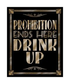 This design is part of our stunning roaring 20s Collection in black and GOLD glitter! PROHIBITION ENDS HERE - DRINK UP    This is a stunning black