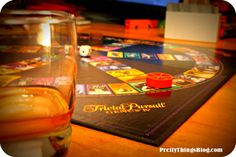 Nothing quite as fun on New Year's Eve as single-malt Scotch and Trivial Pursuit.    via www.PrettyThingsBlog.com
