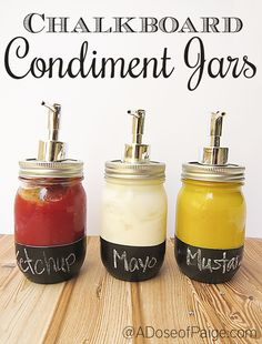 Break out these condiment dispensers at your next barbecue for easy-to-dispense toppings. Get the tutorial at Creating & Co. - CountryLiving.com