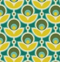 Fabric for DoDo . Joel Dewberry - Notting Hill Home Dec Sateen - Primrose in Basil Textures Patterns, Fabric Patterns, Print Patterns, Retro Fabric, Modern Fabric, Retro Wallpaper, Pattern Wallpaper, Retro Print, Boho Hippie
