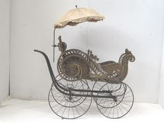 antique wicker pram