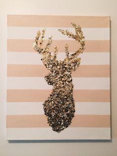 Diy Deer Easy Canvas Mehr Source by The post Diy Hirsch einfach Leinwand … appeared first on Kunex. Easy Canvas Painting, Abstract Canvas, Diy Painting, Dorm Canvas, Canvas Wall Art, Canvas Canvas, Glitter Canvas, Glitter Paint, Phi Mu Crafts