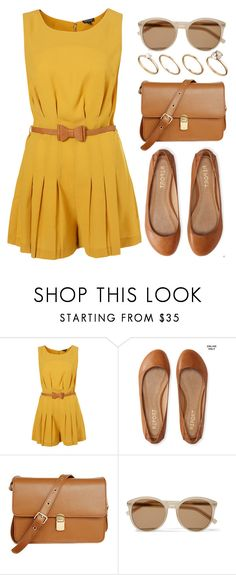 """yellow"" by vany-alvarado ❤ liked on Polyvore featuring Aéropostale, Retrò, Yves Saint Laurent and ASOS"