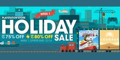 PlayStation announced today its four-week holiday sale for the PSN. The titles span across all three Sony consoles  PS4 Xbox One and PS Vita.  There are tons of deals in the inaugural week of the sale titles such as Amplitude Batman Arkham Knight and much more.  Check out the full list of week 1 down below:  Holiday Sale Week 1  PS4  100ft Robot Golf($15.99)  12000 NHL Points Pack($69.99)  2800 NHL Points Pack($21.24)  5850 NHL Points Pack ($37.49)  7 Days to Die($14.99)  A Boy and His…