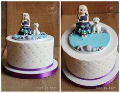 Baptism Cake - iced by kez
