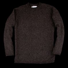 UNIONMADE - MHL Margaret Howell - Raw Merino Rolled Edge Jumper in Brown