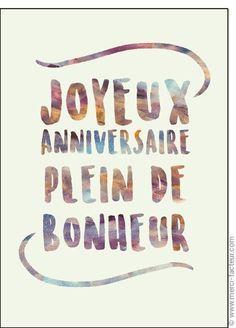 Carte Joyeux Anniversaire Plein De Bonheur Pour Envoyer Par La Poste Sur Merci Facteur Carte Anniversaire Joyeuse Anniversaire Carte Joyeux Anniversaire