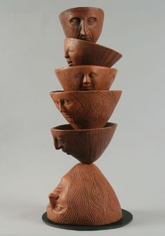 More Clay Whimsy Archives - Ceramics and Pottery Arts and Resources Ceramic Pottery, Pottery Art, Ceramic Art, Sculptures Céramiques, Wood Sculpture, Totems, Ceramic Figures, Objet D'art, Clay Creations