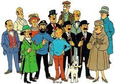 Les héros de Tintin