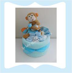 Gâteau de couches pour garçons La baby shower de maman  diaper cake for boy