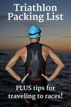 Have a triathlon race coming up?  Find a complete triathlon packing list in this post, along with tips for traveling to destination races!  | triathlon gear | triathlon checklist | triathlon training for beginners | #fitspo #fitness #triathlon #travel