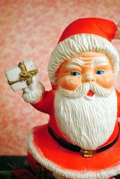 Vintage Christmas Plastic Santa Claus by ScavengersVintage
