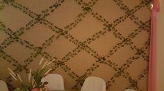 Ivy lattice wall organic....