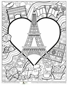 Eiffel Tower Coloring Page Tower Coloring Page Amazing Coloring Pages I Watch Eiffel Tower Paris Printable Coloring Pages Free Adult Coloring, Adult Coloring Book Pages, Cute Coloring Pages, Doodle Coloring, Printable Coloring Pages, Coloring Sheets, Coloring Books, Paris Crafts, Geography