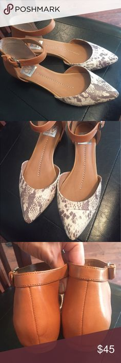 DV by Dolce Vita two piece flat DV by Dolce Vita Geo two piece flat. Size 7.5, gently used DV by Dolce Vita Shoes Flats & Loafers