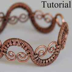 DIY Jewelry Tutorial - Woven Vine Bracelet - PDF on Etsy, $9.00