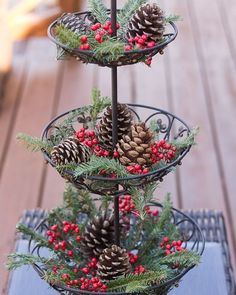 Want ideas for decorating the outside of your home on a budget? These Christmas tree luminaries and other inexpensive decor ideas from Marty's Musings will encourage you to be creative and use natural elements mixed with thrifted purchases. A beautiful ho Christmas Crafts To Make, Christmas Kitchen, Noel Christmas, Country Christmas, Christmas Projects, Simple Christmas, Winter Christmas, Christmas Ornaments, Christmas Budget