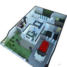 Apartment building architecture layout 15 Ideas for 2019 Building Layout, Building Plans, Minimalist House Design, Minimalist Home, Indian House Plans, House Construction Plan, Home Design Plans, House Layouts, Architecture Design