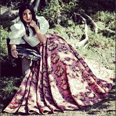 Sabyasachi Mukherjee Sabyasachi Skirt Featured on Harper's Bazaar India January 2014