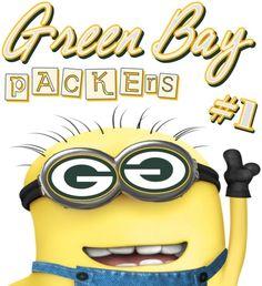 green bay packer minion t shirt - Google Search