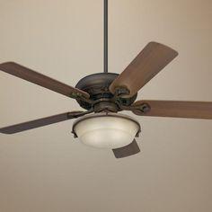 "52"" Casa Vieja Trilogy Bronze Ceiling Fan with Light Kit"