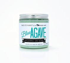 BLUE AGAVE Exfoliating Salt Scrub / by theblacktiemarket on Etsy