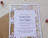 SNOWFLAKE Laser Cut Wedding Invitation