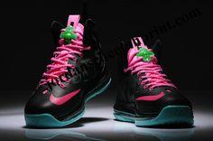 best cheap b4b49 707b7 Womens Nike Lebron 10 Sex On South Beach Black Pink Tiffany Blue, Nike  Lebron,