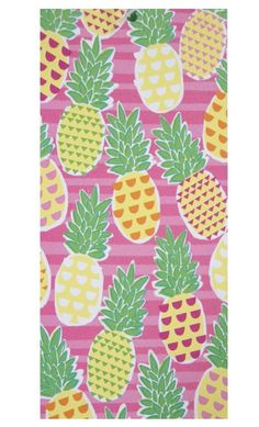 PINEAPPLE Beach Towel 34x64 inches Wallcovering Dorm Decor NEW #Mainstays