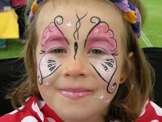 Butterfly Face Painting, i like that, but would change it a little with my style.