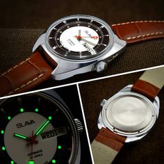 Slava Automatic Soviet Mens Watch From 70s  automatic watch