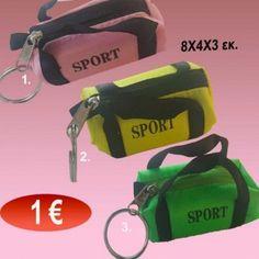 Μπρελόκ σακ βουαγιάζ 8Χ4Χ3 εκ. σε 3 διάφορα χρώματα Sport 2
