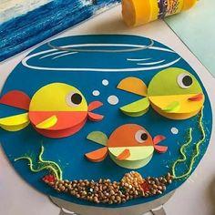 Animal Crafts For Kids, Paper Crafts For Kids, Easy Crafts For Kids, Craft Activities For Kids, Summer Crafts, Fun Crafts, Art For Kids, Toddler Art, Toddler Crafts