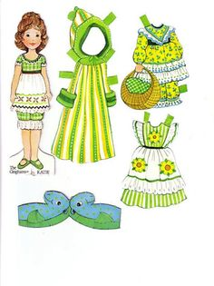 The Gingham Paper Doll Katie   (Katie at the Seashore)