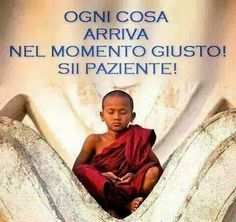 everything arrives at the right moment.Be patient! Cogito Ergo Sum, Italian Quotes, Dalai Lama, Osho, Yoga Meditation, Beautiful Words, Words Quotes, Einstein, Inspirational Quotes