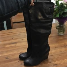 Brand new knee high Nine West boots Never worn, been in the closet since purchased! Originally, 179, purchased for 139 on sale! Nine West Shoes Heeled Boots