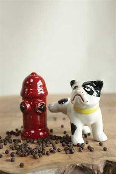 Dog Fire Hydrant Salt & Pepper Shakers